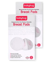 Babyhug 3D Contoured Disposable Breast Pads - 12 Pieces (2-Pack of 6)