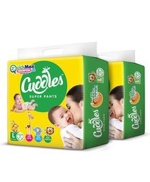 Cuddles Pant Style Diapers Large - 62 Pieces (Pack of 2)