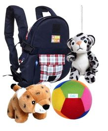Baby Carrier with Soft Toys Combo (Set of 4)