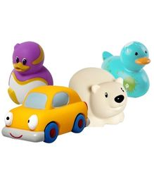 Baby Bath Toys Combo (Set of 4)