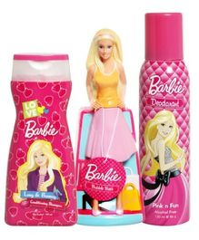 Barbie Shampoo, Bubble Bath and Deodorant Combo (Set of 3)