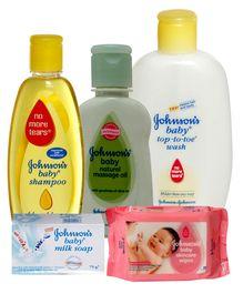Johnson & Johnson Baby Bathing Time Combo (Set of 5)