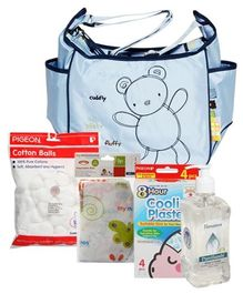 Nursery Bag with Cleansing Solutions Combo (Set of 5)