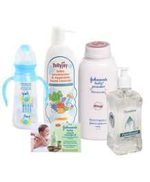 Johnson's - Baby Powder & Soaps with Cleansing Solutions Combo (Set of 5)