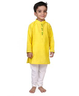 Raghav Kurta & Pyjama Set - Lemon Yellow