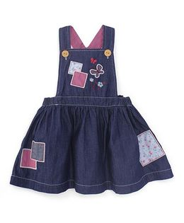 Pumpkin Patch Dungaree Style Frock - Blue