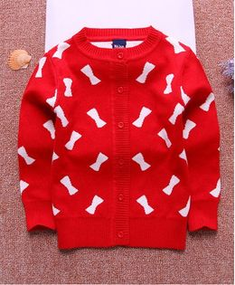 Tickles 4 U Bow Design Sweatshirt - Red
