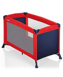 Brevi Travel B Travel Cot - Red & Navy Blue