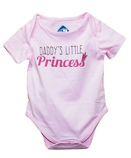 Blue Bus Store Daddy's Little Princess Print Onesie - Pink