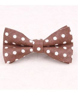 Little Cuddle Polka Dot Bow Tie - Brown