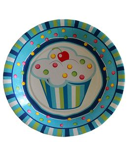 Shopaparty Cupcake Print Plates - Blue