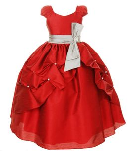 Pink Wings Girls Ball Gown - Red