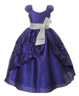 Pink Wings Girls Ball Gown - Blue