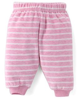 Fox Baby Full Length Striped Fleece Pant - Pink