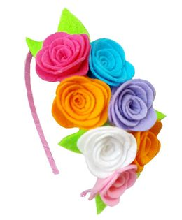 Reyas Accessories Rose Hairband - Multicolor