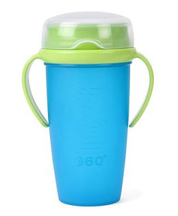 Lovi 360 Cup With Handles Junior Blue Green  - 350 ml