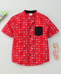 Bee Bee Smart Printed Shirt - Red