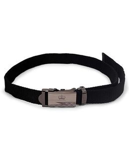 Kid-o-nation Belt With Self Lock Black (Buckle Design May Vary)