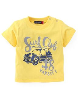 Great Babies Surf Club Print T-Shirt - Yellow