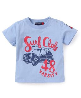 Great Babies Surf Club Print T-Shirt - Blue
