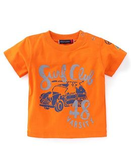 Great Babies Surf Club Print T-Shirt - Orange