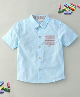 Bee Bee Collar Shirt - Blue