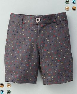 Bee Bee Triangle Print Shorts - Gray