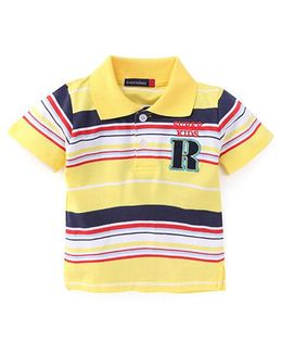 Great Babies Super Kids Striped T-Shirt - Yellow