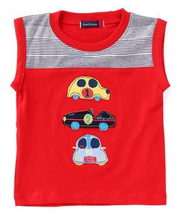Great Babies Car Design Sleeveless T-Shirt - Red