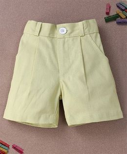 De Berry Smart Pleated Shorts - Lemon Yellow