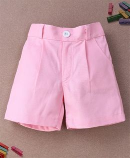 De Berry Smart Pleated Shorts - Pink