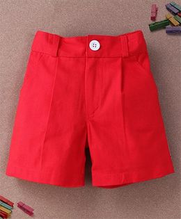 De Berry Smart Pleated Shorts - Red