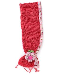 De Berry Gorgeous Headband With Flower - Red