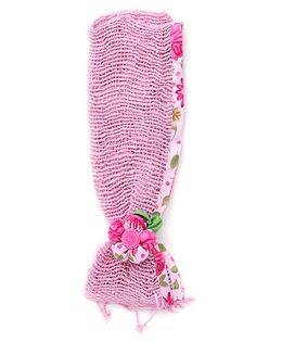 De Berry Gorgeous Headband With Flower - Light Pink