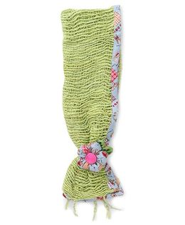 De Berry Pretty Headband With Flower - Green