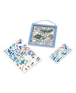 Melissa & Doug Peel And Press Stained Glass Undersea Fantasy - 100 Pieces