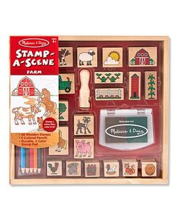 Melissa & Doug Stamp A Farm Scene Set - 20 Pieces