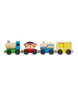 Melissa & Doug Classic Wooden Toy Cargo Train - Multicolour