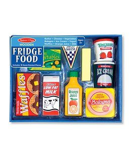Melissa & Doug Wooden Fridge Food Set - 9 Pieces