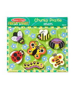 Melissa & Doug Insects Chunky 3D Wooden Puzzle - Multicolor