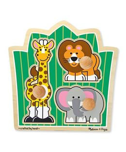 Melissa & Doug Jungle Friends Safari Jumbo Knob Puzzle - 3 Pieces