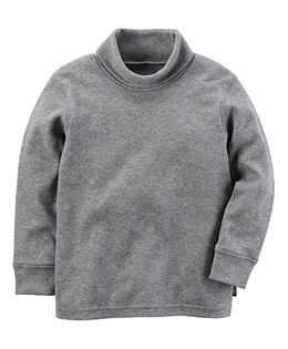 Carter's Knit Turtleneck Sweatshirt - Grey