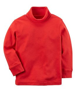 Carter's Knit Turtleneck Sweatshirt - Red