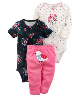 Carter's 3-Piece Little Character Set - Pink navy