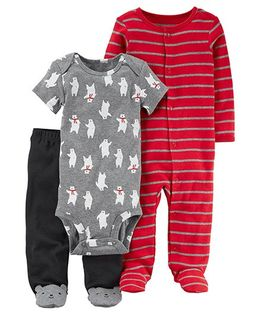 Carter's 3-Piece Bear PJ Set - Multi Color