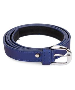 Kid-o-nation Girls Belt With Silver Buckle - Blue