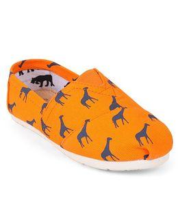 One Friday Animal Printed Shoes - Orange
