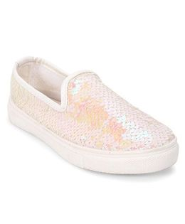 One Friday Sequin Loafers - Light Pink