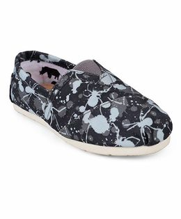 One Friday Spider Printed Shoes - Blue