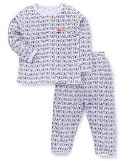ToffyHouse Full Sleeves Night Suit Printed - White